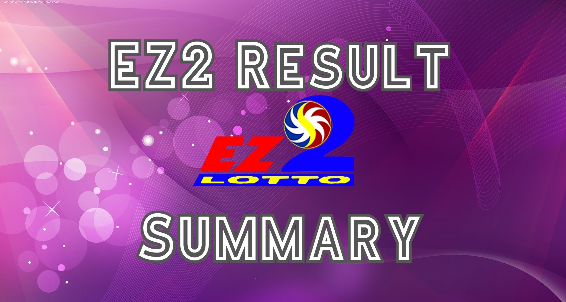 EZ2 Result Summary, Today Sep 22, Yesterday, History & Hearing