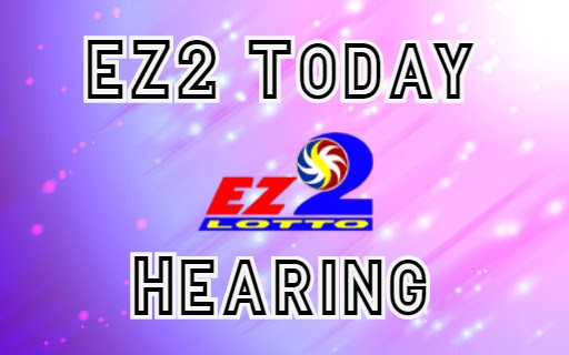 PCSO EZ2 Results Today Hearing March 08, 2020