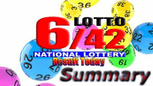 6/42 Lotto Result Summary