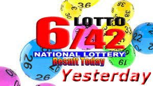 6/42 Lotto Results Yesterday