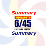 6/45 Lotto Result Summary