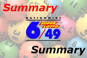 6/49 Result Summary, Today Aug 11, Yesterday, History & Hearing