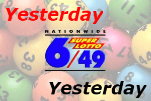 6/49 Super Lotto Results Yesterday